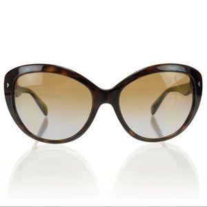 PRADA Miu Miu Havana Sunglasses SPR 21N Cat Eye